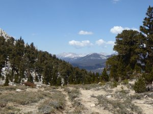 Looking back to Great Western Divide