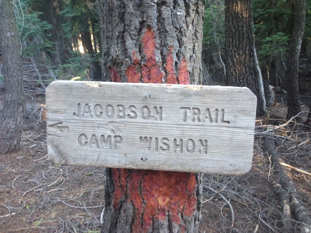 Jacobsen Trail Sign