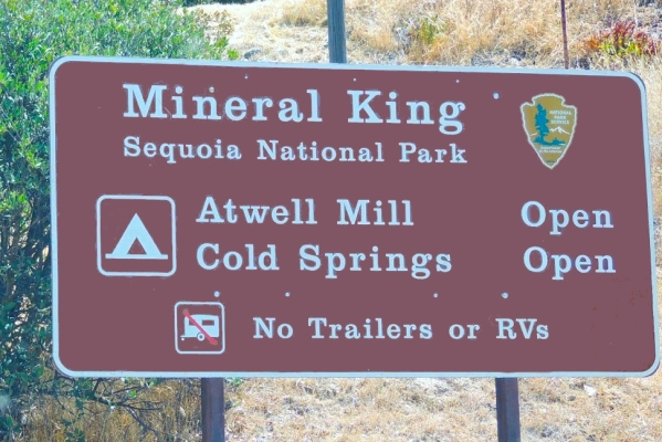 Mineral King Open Sign